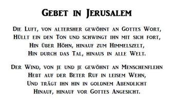 gebet in jerusalem